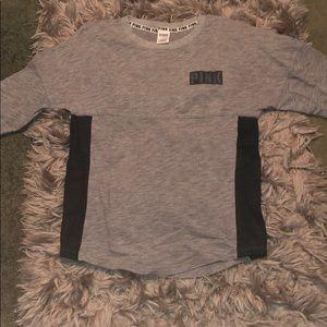 Pink crew neck hoodie